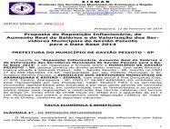 Proposta dos servidores de Gavião Peixoto para a data-base 2014